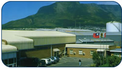 A view of our factory with Table Mountain in the background